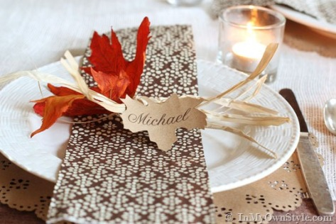 Leaf-and-Raffia-Placecard